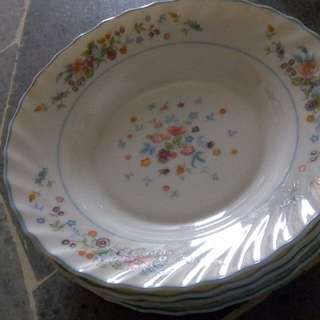 Vintage plates with depth set of 4