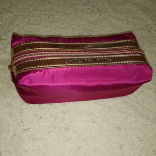 Chow Tai Fook Burgundy Cosmetic Bag with Zipper
