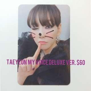 少女時代 太妍 My Voice Deluxe Edition小卡