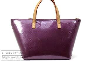 Authentic Louis Vuitton Vernis Violet Bellevue Tote Bag