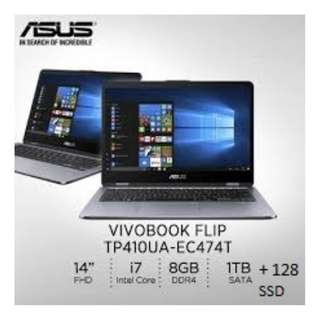 Latest Asus Vivo Flip Book TP410UA-EC474T