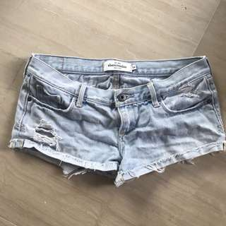 Abercrombie and Fitch Denim Shorts Ripped