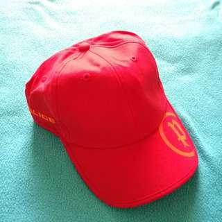 BNEW Police Red Cap (Authenticity Not Guaranteed)