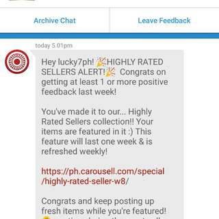Thank You Carousell! (8th week 2018)