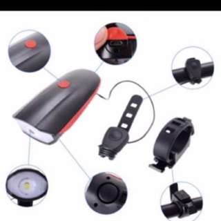 Rechargeable USB horn and light