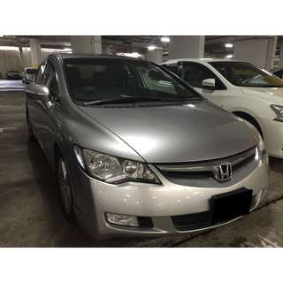 02/03-05/03/2018 HONDA CIVIC 1.6A ONLY $195.00 ( P PLATE WELCOME)