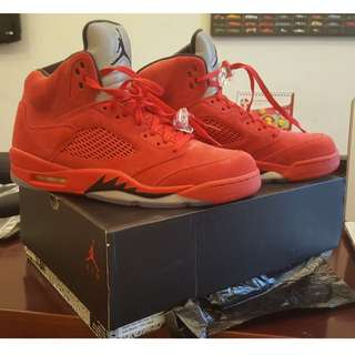 AIR JORDAN 5 RETRO - University Red US 12 / EU 46