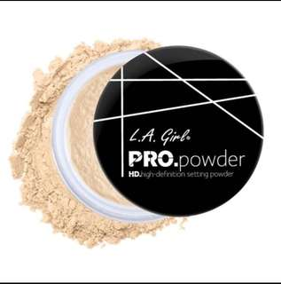 Instock LA Girl HD PRO Setting Powder Banana Yellow