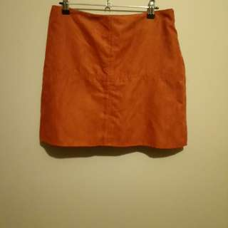 Atmosphere suede skirt
