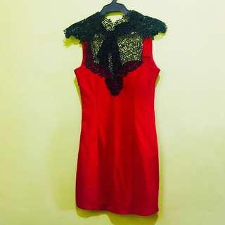 Red Cocktail / Semiformal Dress