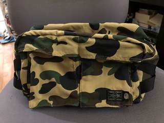 Bape x Porter 1st Camo yellow Waist Bag 腰包