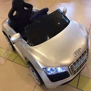 Silver Audi R8 Spyder 6V Battery Ride-On Convertible Sports Car