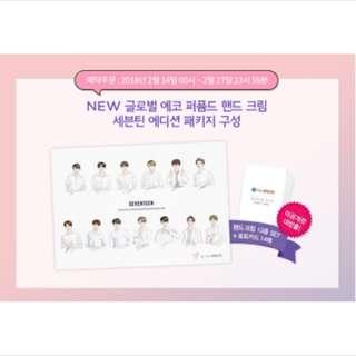 Seventeen gloval echo perfume hand cream set