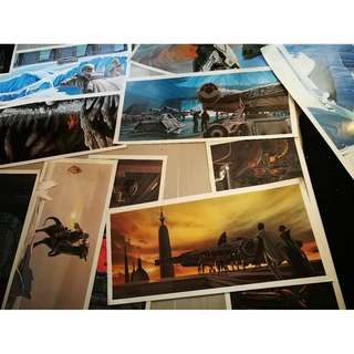 Star Wars concept art posters
