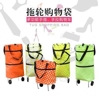 Foldable Trolley Bag With Wheels convertible to bag