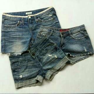 Hotpants! Lot of three
