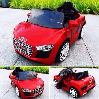 Red Audi R8 Spyder 6V Battery Ride-On Convertible Sports Car