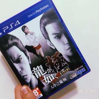 🚚 PS4 人中之龍 極 光碟保存良好