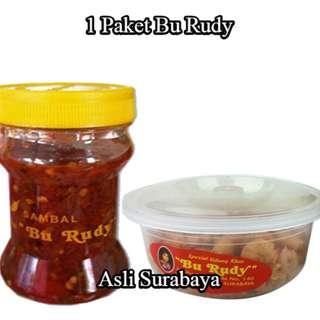 1 Sambal Bawang & 1 Paket Udang Crispy Kecil Asli Bu Rudy Surabaya