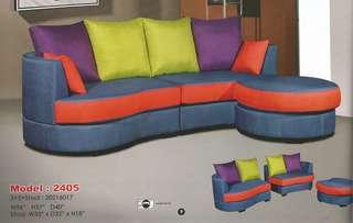cheapest installment plan L-shape sofa model - 2405