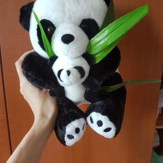 Panda Mother with baby Soft Toy Plush