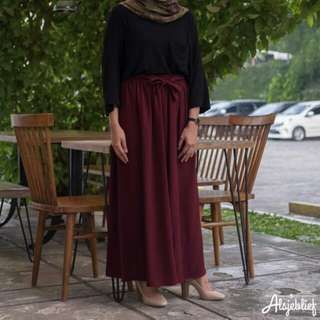 Wide cullote skirt