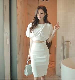 AO/DZC072649 - Backless Waist Hollow Out Slim Dress
