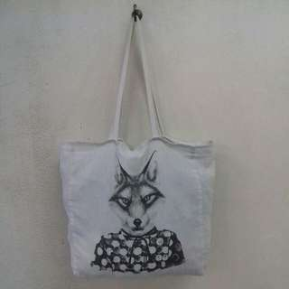 Cotton On Wolf Tote Bag #Bajet20