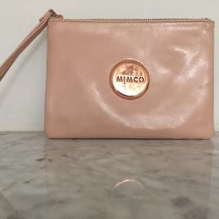 Classic pink mimco pouch