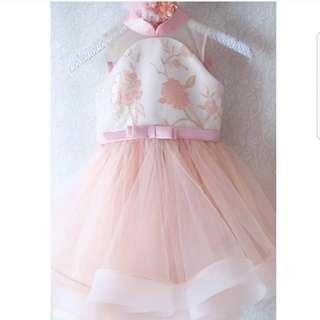 Dress anak peach