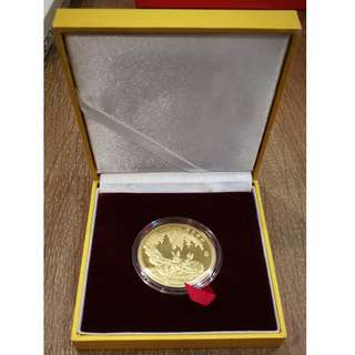 2011 Gold Plated Singapore Lunar New Year Rabbit Coin