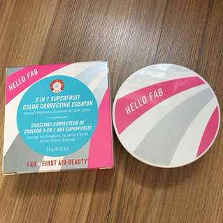 First aid beauty 3in1 super fruit Color correcting cushion