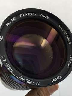 Vivitar 28-200mm F3.5-5.3 For Canon FD