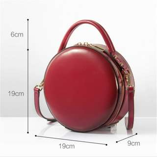 Red Rounded Mini Vintage Bag