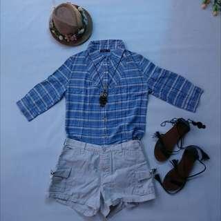 Penshoppe Blue Stripes Polo