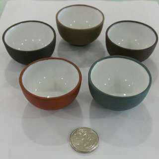 Mini Colourful Chinese Tea Cups