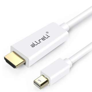 (BN) aLLreLi Gold Plated Mini DisplayPort Thunderbolt Male To HDMI Male Cable - 1.8m (Brand New)