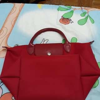 Longchamp short handle red