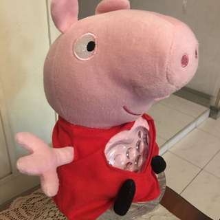"Peppa Pig 12"" Lullaby Peppa Childrens Toy with Tummy Lights Up"