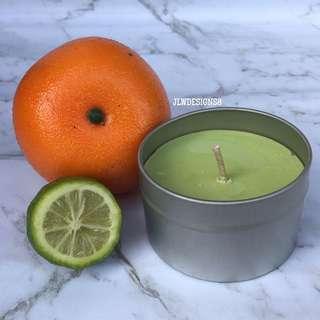 Lime, Basil & Mandarin Scented Tin Candle