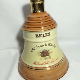 Vintage Decanter Bells Empty Wine Bottle