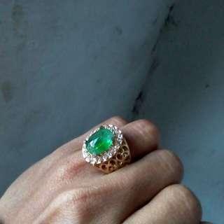 Batu cincin antik Jamrud kalimantan