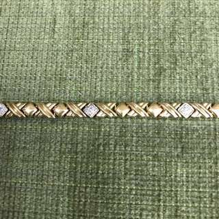 14k xoxo chain link bracelet 4.8 grams, 7.48 inches