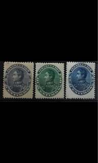 Venezuela early stamps 3v Mint