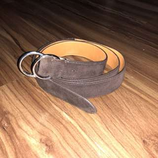 Ralph Lauren O-ring suede leather belt