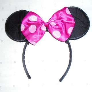 Charity Sale! Authentic Disney Minnie Mouse Hairband with Minnie Ears
