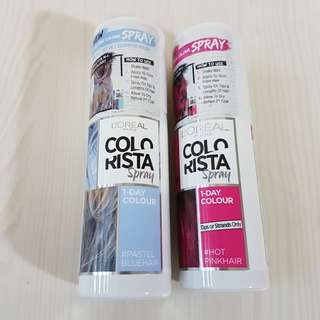 Loreal Paris Colorista Spray - HotPink and Blue
