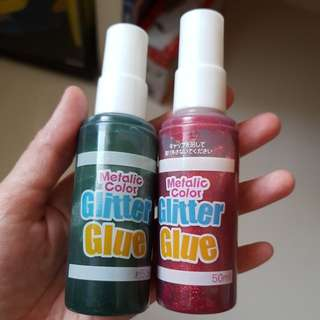Metalic colour Glitter Glue