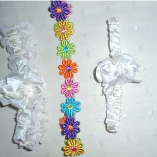Charity Sale! Set of 3 Girl Headbands For 6-12 months