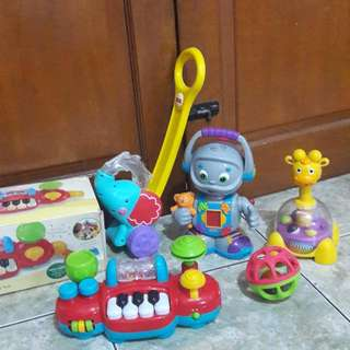 TAKE ALL fisherprice elc playskool vtech little tikes light and sound buggy drive robot giraffe rattle kid toys